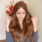 Uzun saç abiye modeli