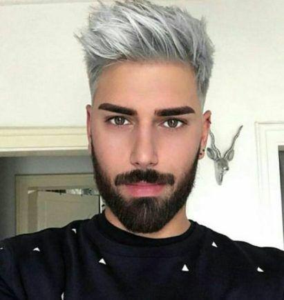 Gümüş Gri Saç erkek