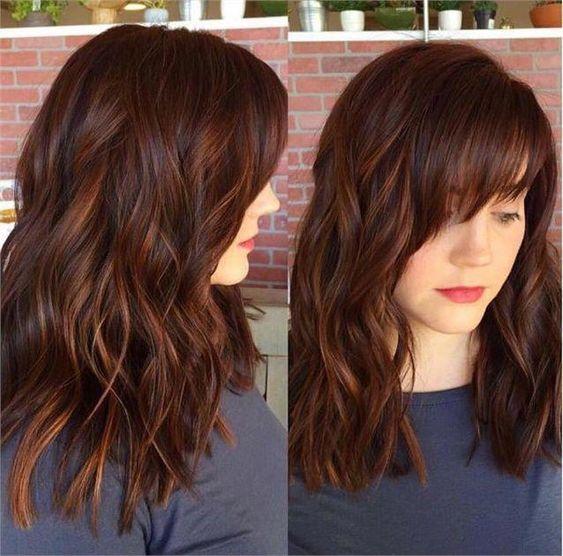 Kahve kızıl saç rengi