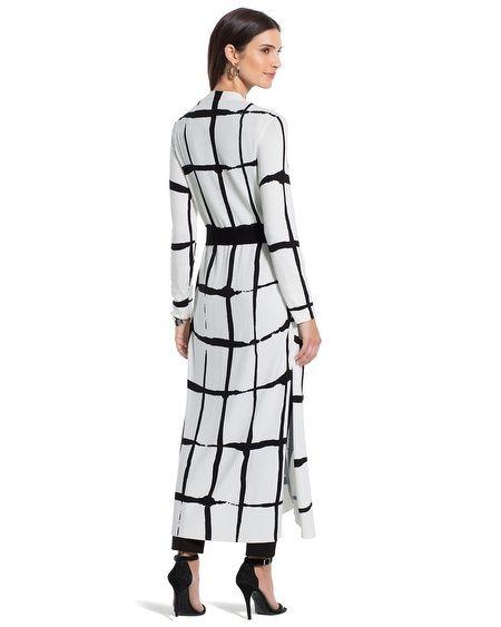 Siyah beyaz ekose elbise kombinleri