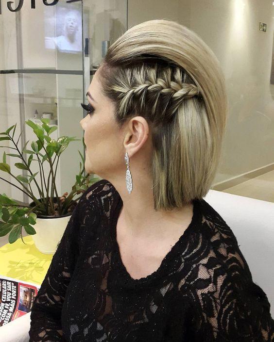 Düğün için kısa saç modelleri