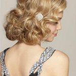 Düğün için kısa sevimli saç modelleri