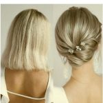 Kısa saç topuz modelleri bayan