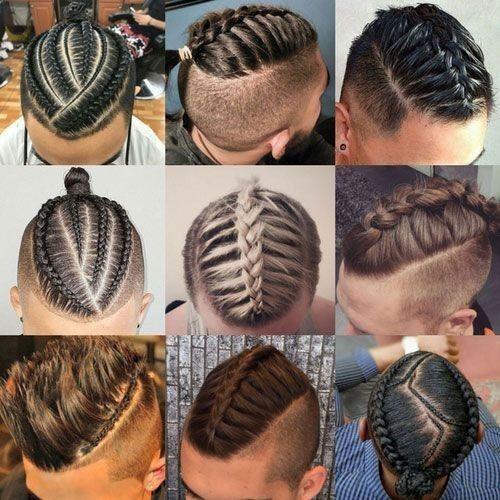 Örgü saç modelleri erkek