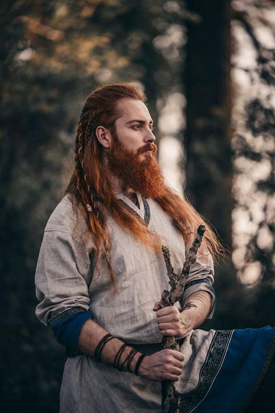viking saç örgüsü erkek