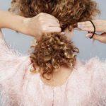 Kıvırcık saç toplama modelleri