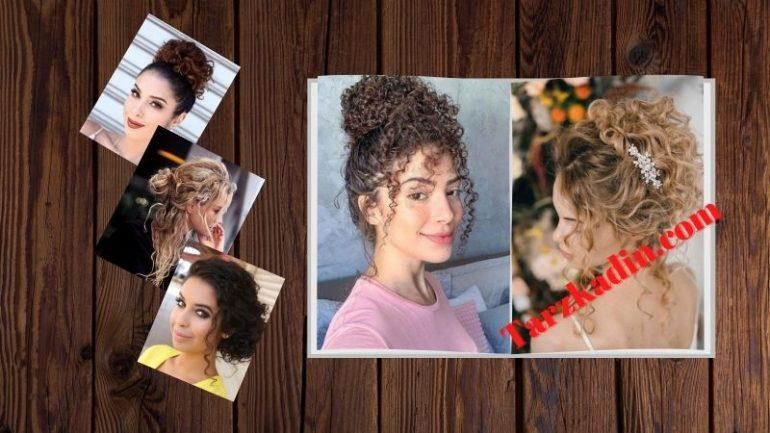 Kıvırcık Saçlar İçin Topuz Modelleri