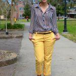 Sarı pantolon bayan