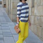 Sarı pantolon kombinleri