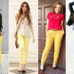 Sarı pantolon üzerine ne giyilir