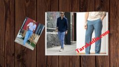 Mavi Keten Pantolon Üstüne Ne Giyilir Erkek