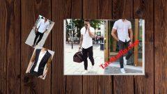 Beyaz Gömlek Siyah Pantolon Kombinleri Erkek Stilleri
