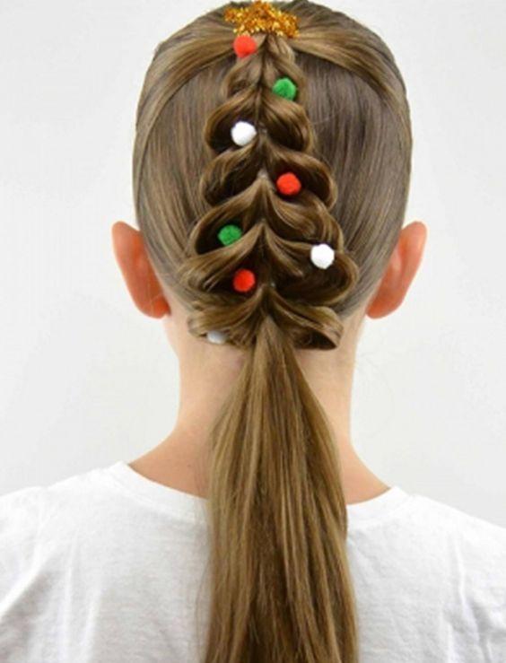 uzun saçlar için okul modelleri