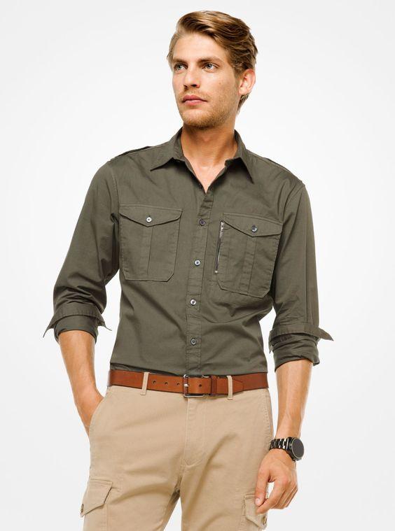 Haki yeşil gömlek altına ne renk pantolon giyilir erkek
