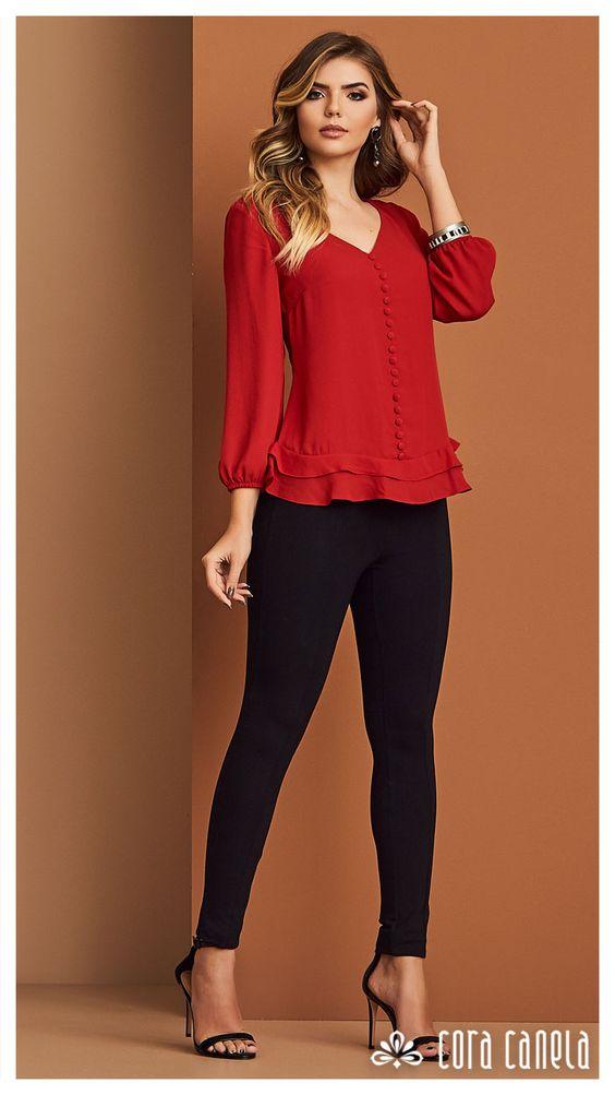 Kırmızı gömlek altına kumaş pantolon