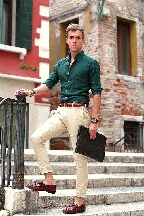 Koyu yeşil gömlek altına ne renk pantolon olur erkek