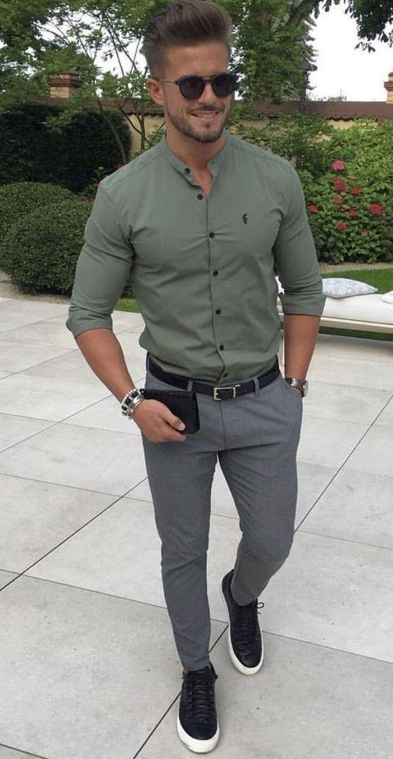 Nefti yeşil gömleğin altına ne renk pantolon olur erkek