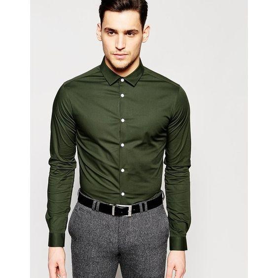 asker yeşili gömlek